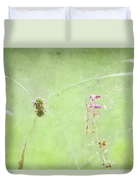 Grasses And Blooms Duvet Cover
