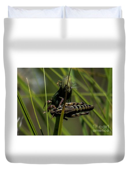 Grasshopper 2 Duvet Cover