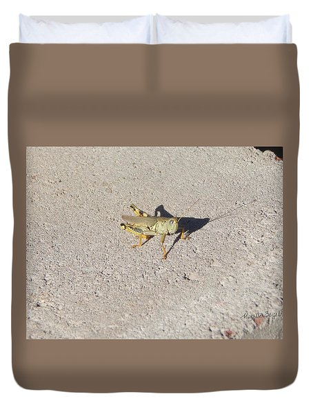 Grasshopper Curiosity Duvet Cover