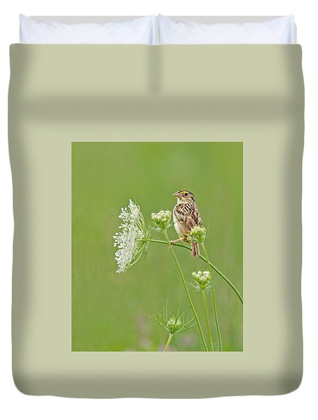 Grasshopper Sparrow Duvet Cover
