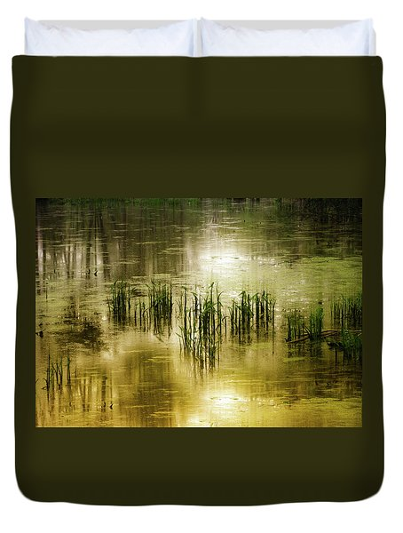 Duvet Cover featuring the photograph Grassland Abstract by Jessica Jenney