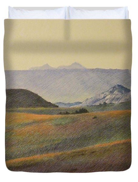 Grasslands Badlands Panel 2 Duvet Cover