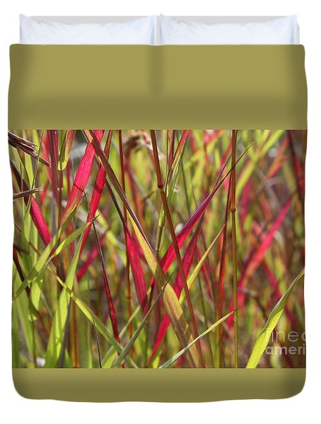 Duvet Cover featuring the photograph Grasslights by Brian Boyle
