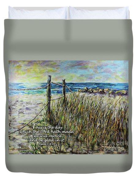 Grassy Beach Post Morning Psalm 118 Duvet Cover
