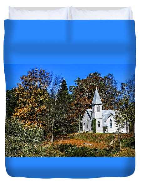 Grassy Creek Methodist Church Duvet Cover