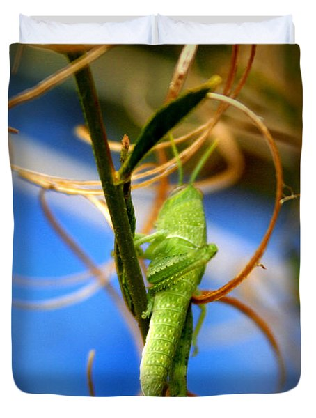 Grassy Hopper Duvet Cover by Chris Brannen