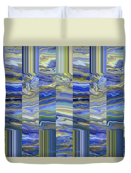 Duvet Cover featuring the photograph Grate Art - Blues And Greens by Brooks Garten Hauschild
