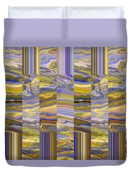 Duvet Cover featuring the photograph Grate Art - Purples And Yellows by Brooks Garten Hauschild