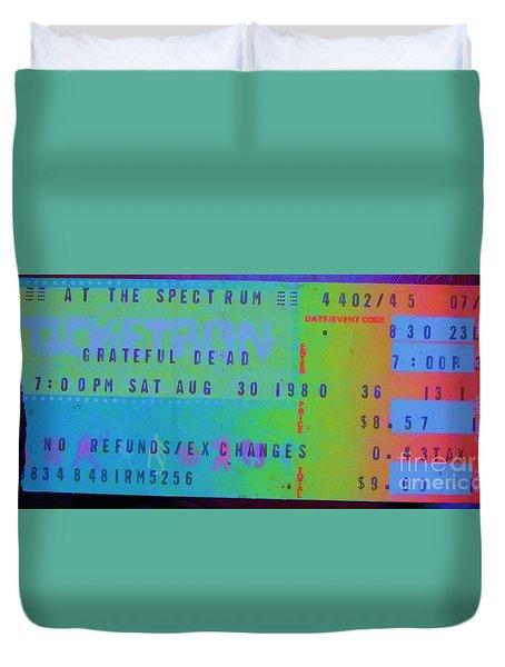 Grateful Dead - Ticket Stub Duvet Cover