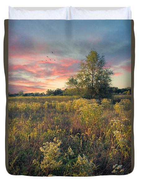 Grateful For The Day Duvet Cover