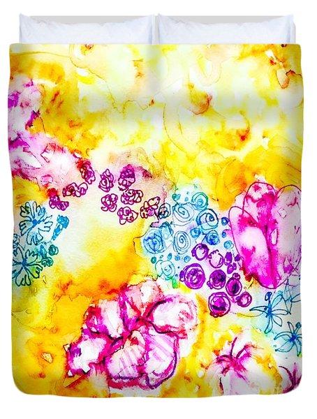 Gratitude Blooms Duvet Cover