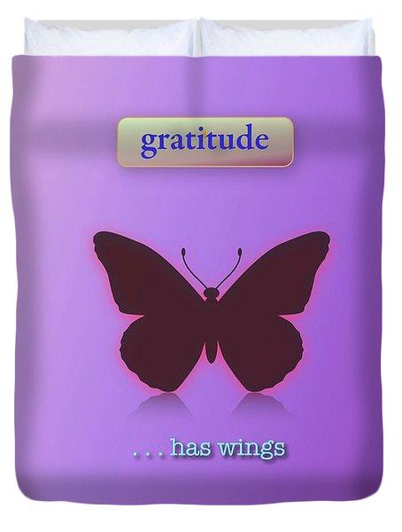 Gratitude Has Wings Duvet Cover by Jack Eadon