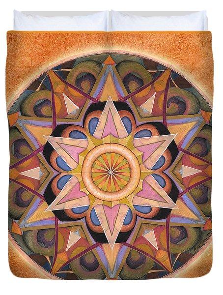 Gratitude Mandala Duvet Cover