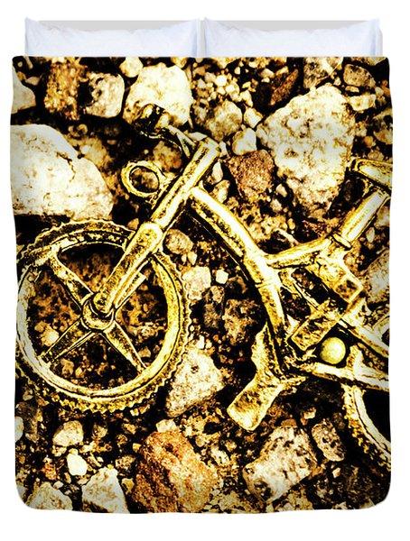 Gravel Bikes Duvet Cover