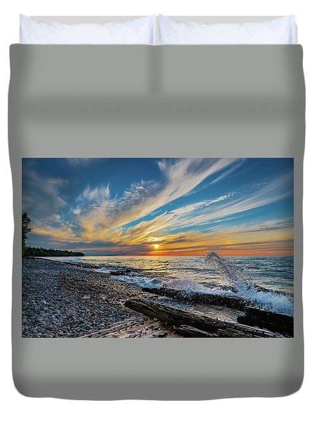 Graveyard Coast Sunset Duvet Cover