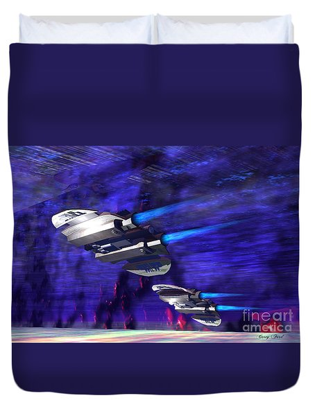 Gravitational Forces Duvet Cover by Corey Ford