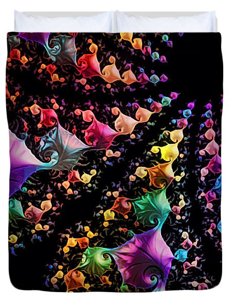Duvet Cover featuring the digital art Gravitational Pull by Kathy Kelly