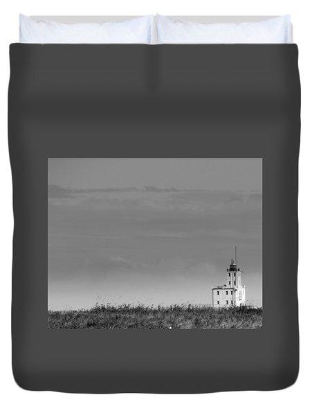 Gray Harbor In Wisconsin Duvet Cover