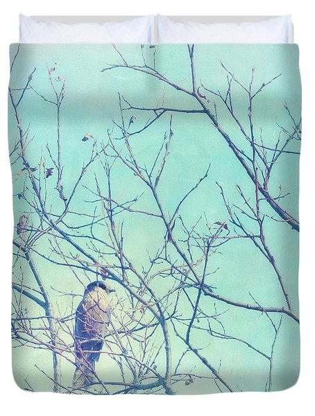 Gray Jay In A Tree Duvet Cover