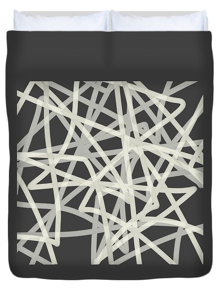 Gray On Gray - Abstract Art By Ann Powell Duvet Cover