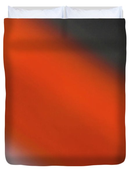 Gray Orange Grey Duvet Cover
