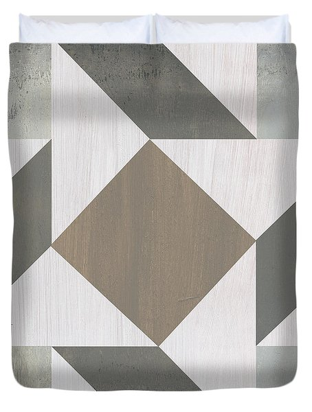 Gray Quilt Duvet Cover