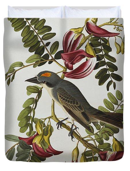 Gray Tyrant Duvet Cover by John James Audubon