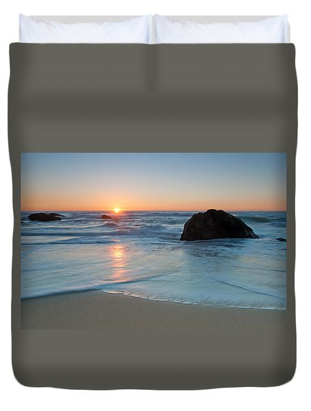 Gray Whale Cove State Beach 2 Duvet Cover by Catherine Lau