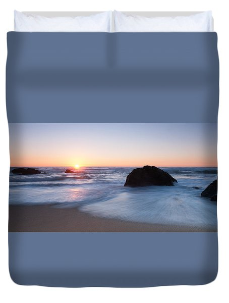 Gray Whale Cove State Beach 3 Duvet Cover by Catherine Lau