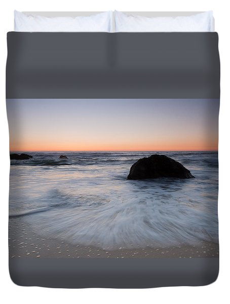 Gray Whale Cove State Beach Duvet Cover by Catherine Lau