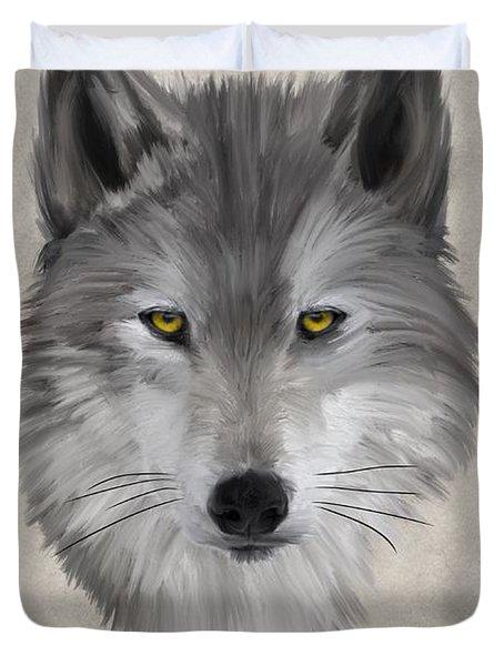 Gray Wolf Duvet Cover