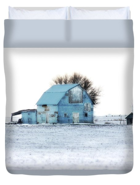 Duvet Cover featuring the photograph Grays by Julie Hamilton