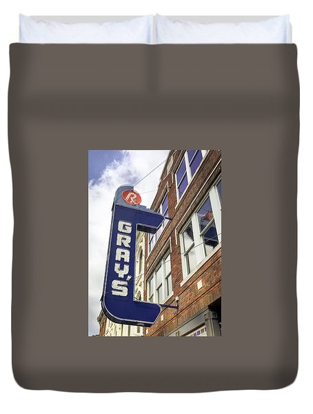 Gray's Rx In Franklin Tn Duvet Cover