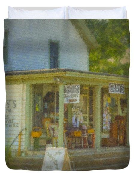 Gray's Store In Little Compton Rhode Island Duvet Cover