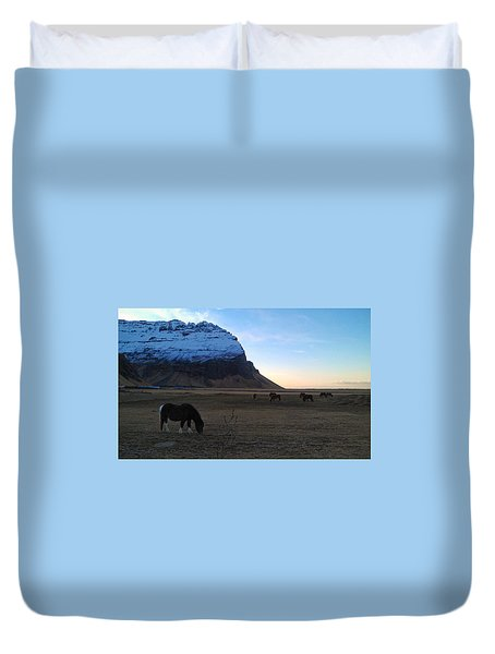 Grazing At Dawn Duvet Cover