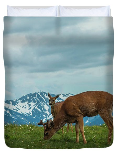 Grazing In The Clouds Duvet Cover