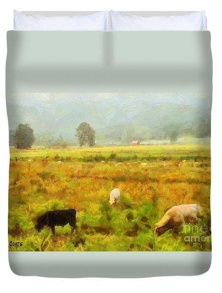 Grazing Duvet Cover by Elizabeth Coats