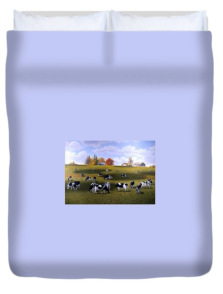 Grazing Holsteins Duvet Cover by Conrad Mieschke