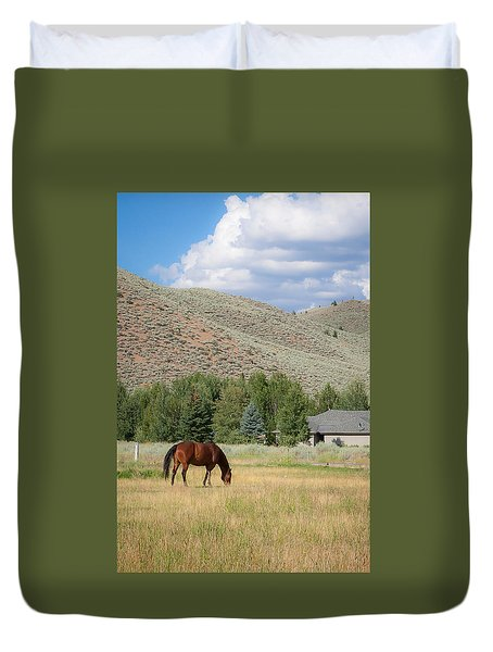 Grazing Horse Duvet Cover