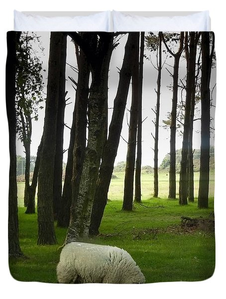 Grazing In The Woods Duvet Cover