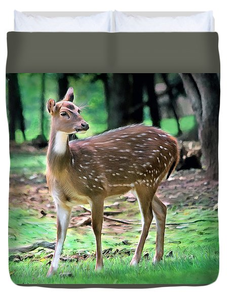 Grazing Duvet Cover by Marion Johnson