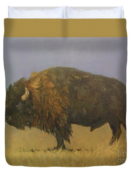 Great American Bison Duvet Cover