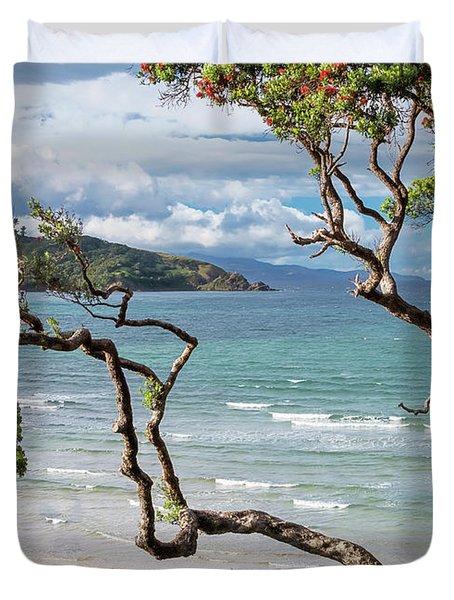 Great Barrier Island New Zealand View Duvet Cover