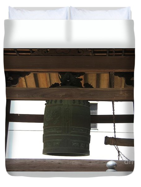 Duvet Cover featuring the photograph Great Bells by Yumi Johnson