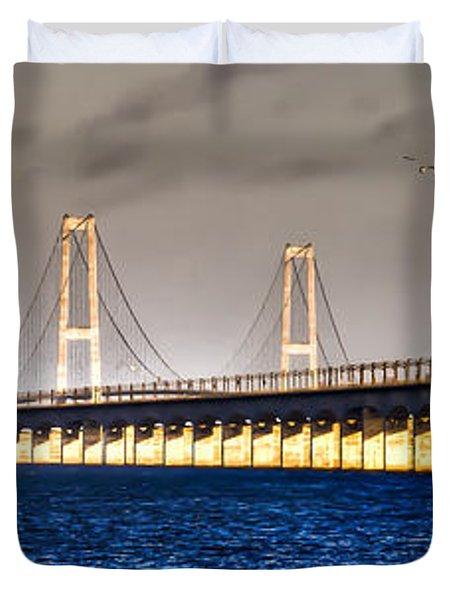 Duvet Cover featuring the photograph Great Belt Bridge by Gert Lavsen