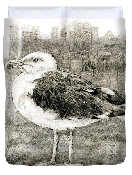 Great Black-backed Gull Duvet Cover