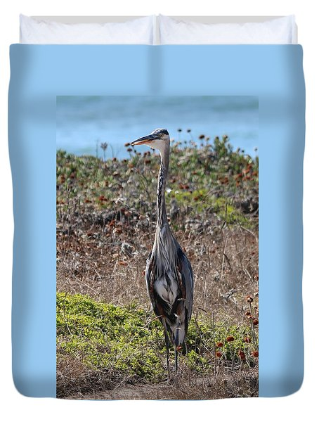 Great Blue Heron - 11 Duvet Cover
