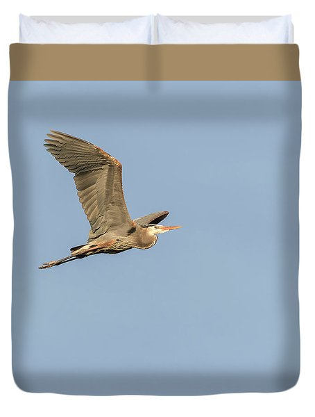 Duvet Cover featuring the photograph Great Blue Heron 2015-17 by Thomas Young