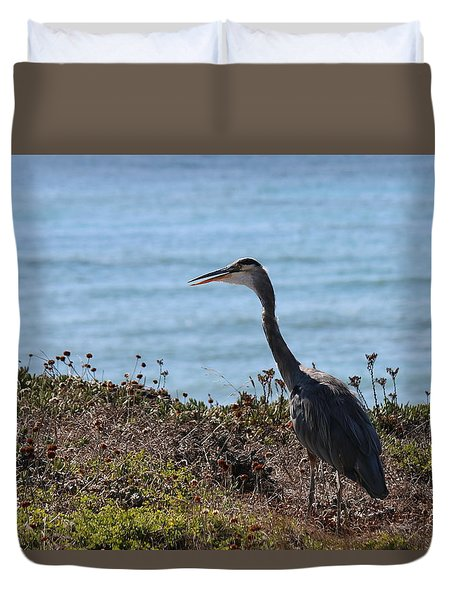 Great Blue Heron - 3 Duvet Cover
