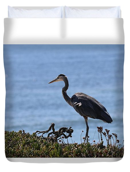 Great Blue Heron - 4 Duvet Cover